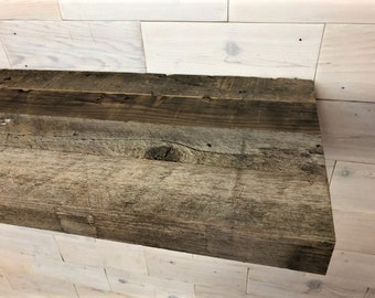 "Barn Wood Shelf 2"" thick  