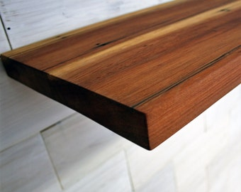 "Reclaimed Redwood Shelf 1"" thick 
