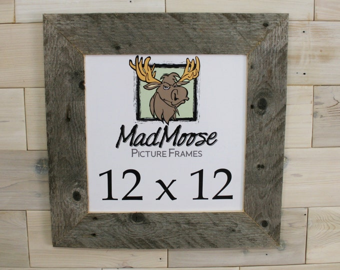 """12x12 BarnWood Picture Frame - Classic 3"""""""