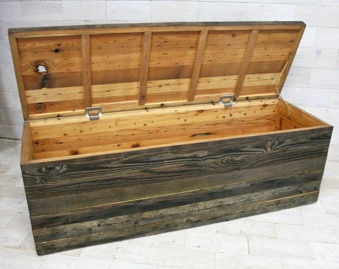 "Barn Wood Box 60"" x 24"" x 24"" 