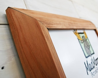 """Reclaimed Redwood Picture Frame - Inclined 2"""" 