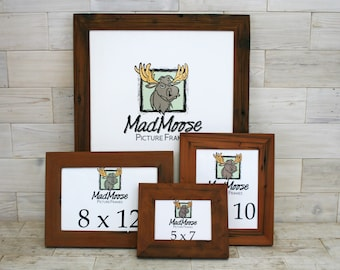 Reclaimed Redwood Picture Frame - Classic 1.25"