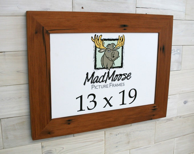 13x19 Reclaimed Redwood Picture Frame - Classic 3""