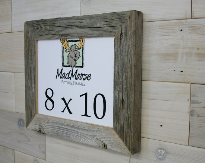 """8x10 BarnWood Picture Frame Classic-2"""""""