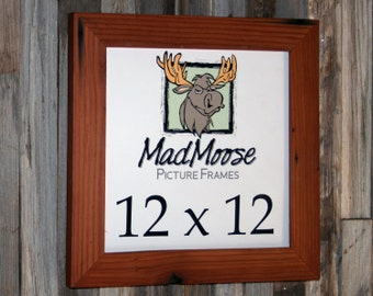 """12x12 Reclaimed Redwood Picture Frame - Classic 2"""""""