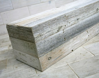Fireplace Box Mantel | Barn Wood - GhostGray Urban Wood | choose your size