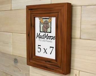 5x7 Reclaimed Redwood Picture Frame - Classic 2""