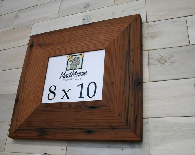 """8x10 Reclaimed Redwood Picture Frame - Classic 5"""""""