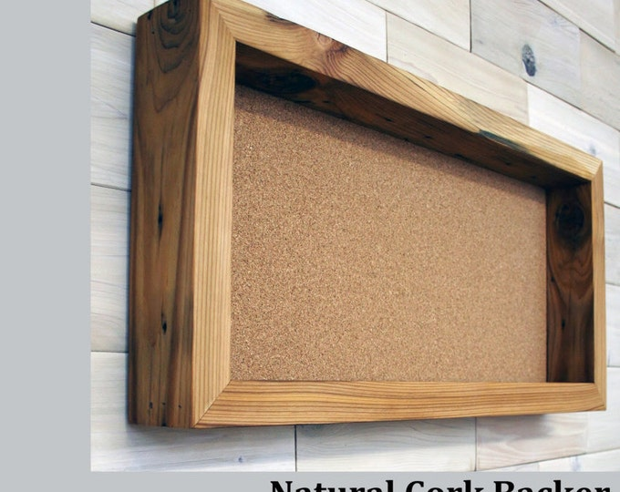 "Reclaimed Cedar Shadow Box 24"" x 12"" x 2"" with open face"