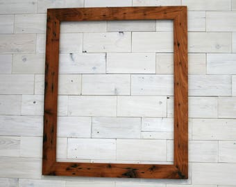 16x20 Reclaimed Redwood Picture Frame - Classic 2""