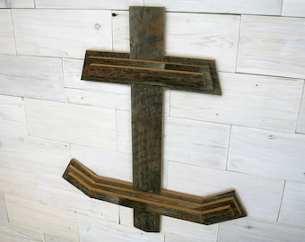 Anchor Wall Decor made from Barn Wood