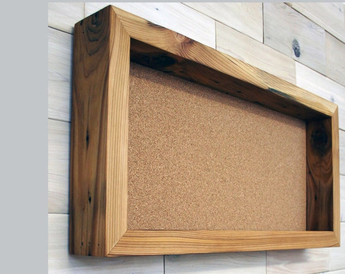 "Reclaimed Wood Shadow Box 24"" x 12"" x 2"" with open face"