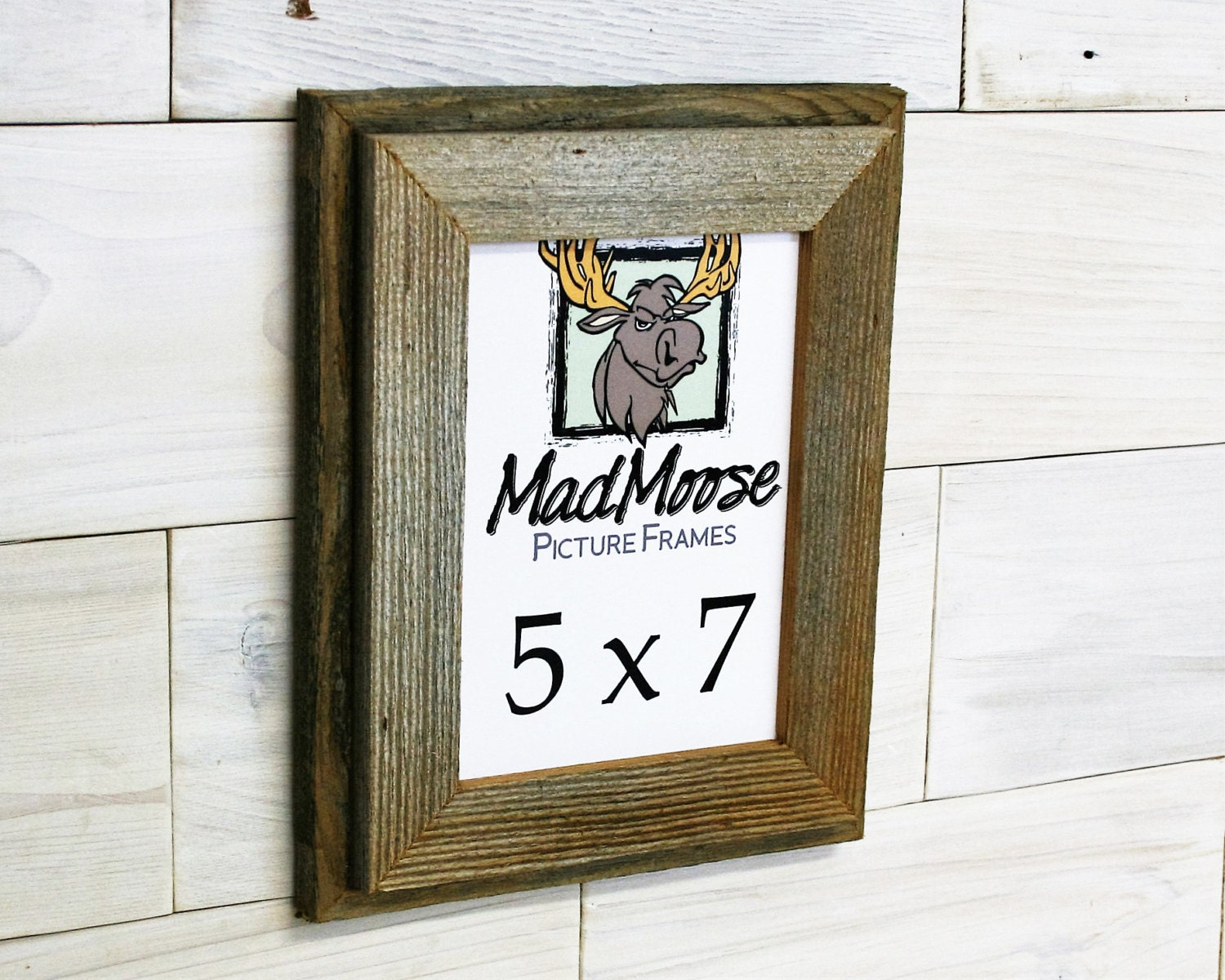 5x7 Barn Wood [Double x 1.75] Picture Frame . . (barn wood frame ...