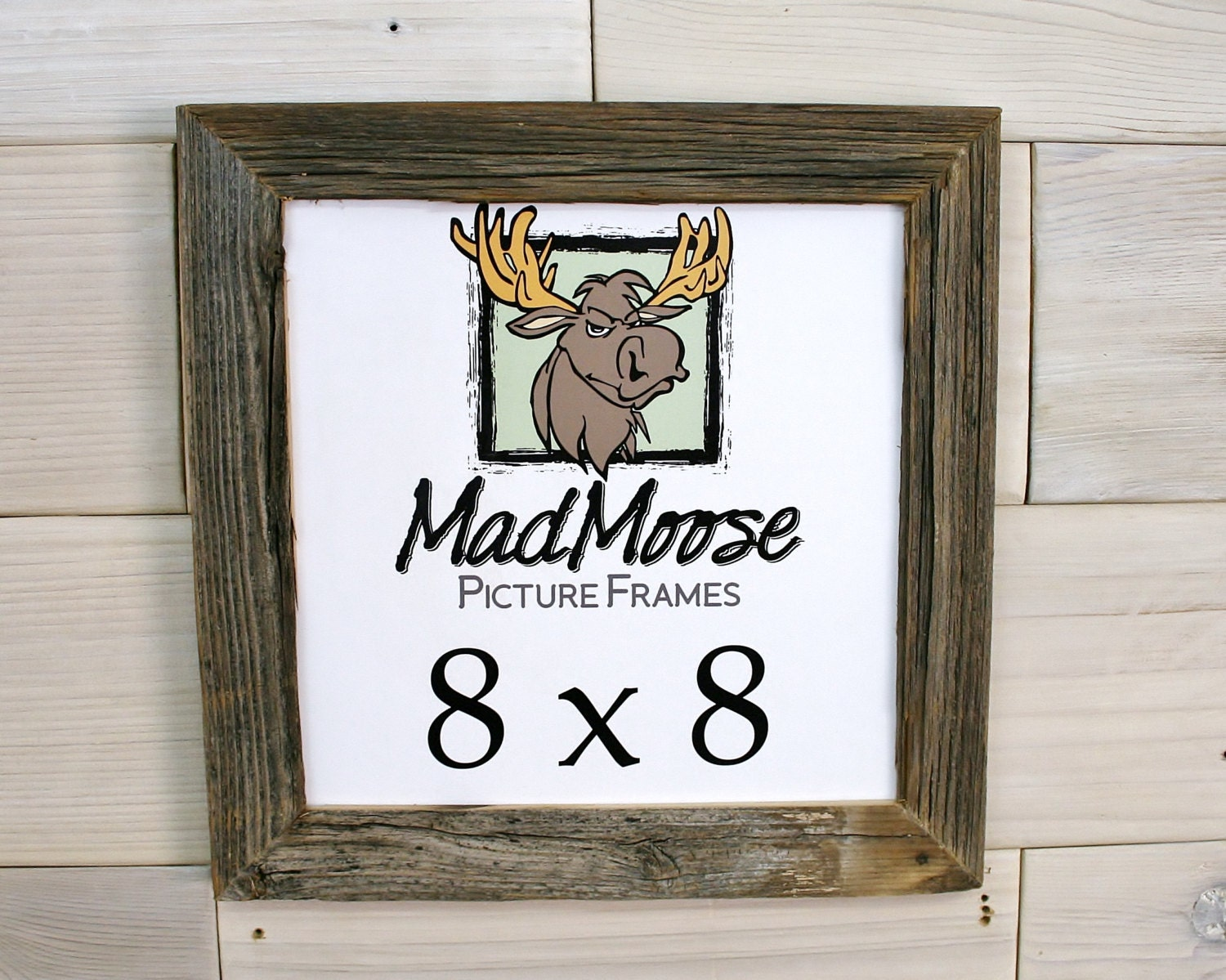 8x8 BarnWood [Thin x 1.25] Picture Frame . . . . (Tags: wood picture ...