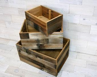 Barn Wood Storage Box | choose your size