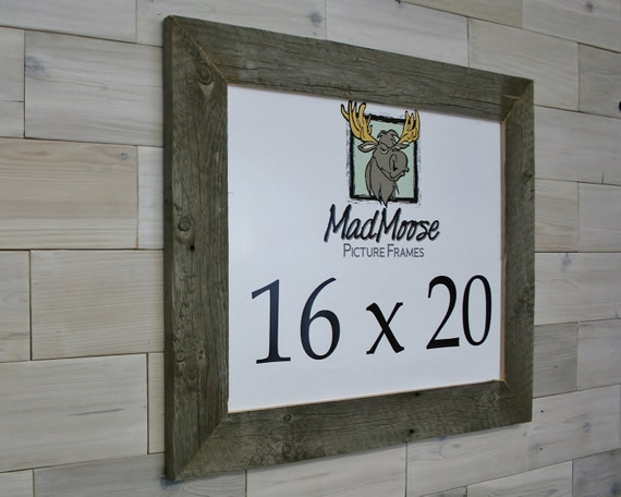 16x20 Barn Wood Picture Frame Classic 3 Etsy