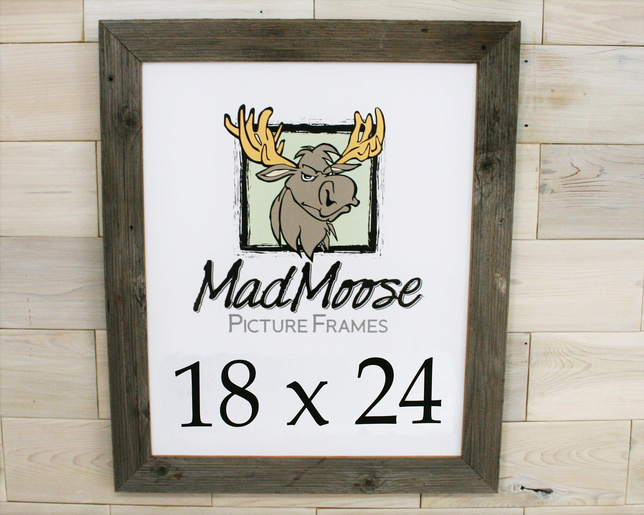 18x24 Barn Wood [Thin x 2] Picture Frame