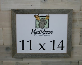 """11x14 BarnWood [Chunky x 1.25""""] Picture Frame... a.k.a. Rustic Weathered Barn Wood Picture Frame"""