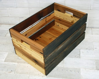 Reclaimed Wood & Barn Wood Crate | choose your size