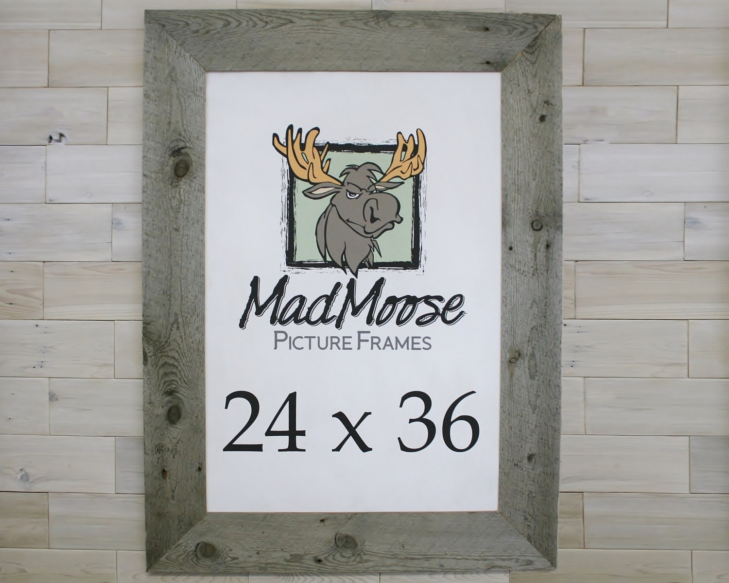 24x36 Barn Wood [Thin x 5] Picture Frame . .(tags: wood picture ...