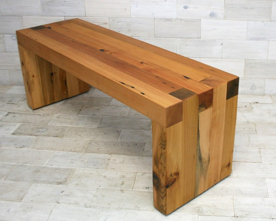 Cool Reclaimed Wood Box Joint Bench Coffee Table Bralicious Painted Fabric Chair Ideas Braliciousco