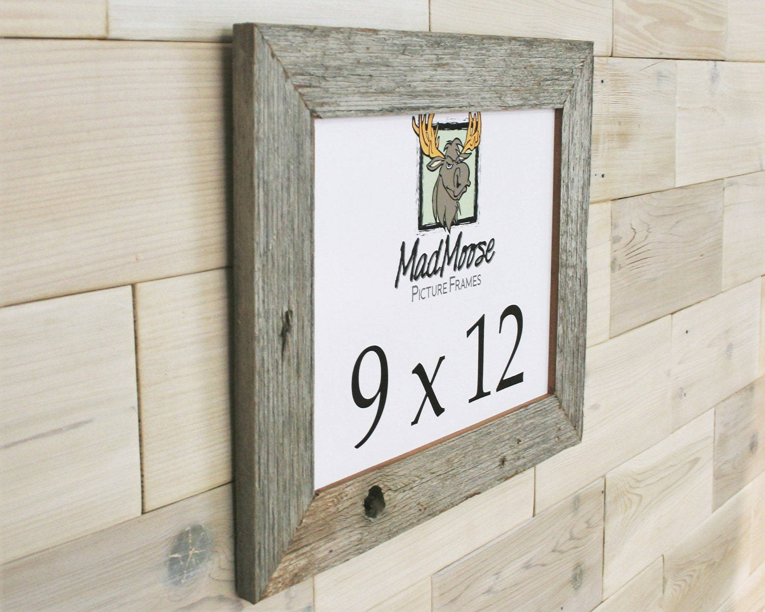 9x12 Barn Wood [Thin x 2] Picture Frame... (aka Rustic Weathered ...