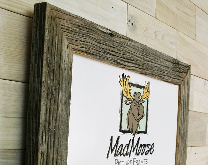 """Barn Wood Picture Frame Classic-3""""   choose your size 4"""" x 4"""" up to 20"""" x 20"""""""