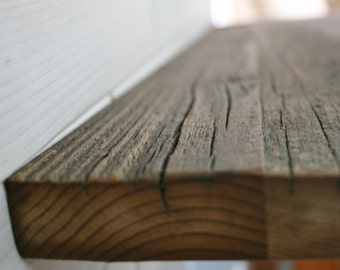 """Barn Wood Shelf 1"""" thick  