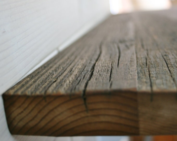 """Barn Wood Shelf 1"""" thick     choose your size up to 90"""" x 12"""""""
