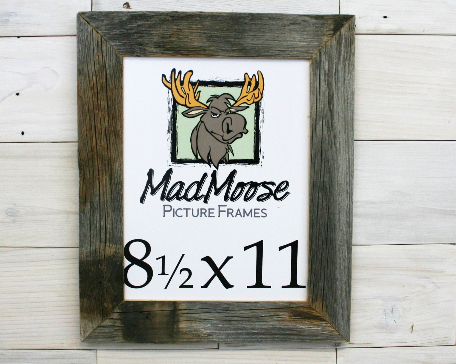 8.5x11 Barn Wood [Thin x 2] Picture Frame . . . (tags: 8.5 x 11 old ...