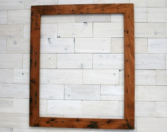 """Reclaimed Redwood Picture Frame - Classic 2"""" 