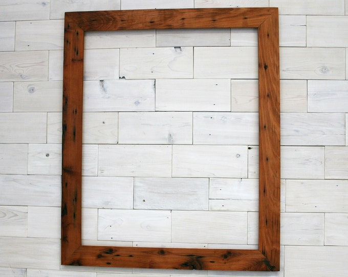 """Reclaimed Redwood Picture Frame - Classic 2""""   choose your size 24"""" x 40"""" up to 40"""" x 48"""""""