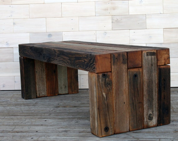 Phenomenal Barn Wood Box Joint Bench Coffee Table Multiple Sizes Gamerscity Chair Design For Home Gamerscityorg