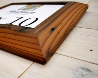 """Reclaimed Redwood Picture Frame - Inclined 3"""" 