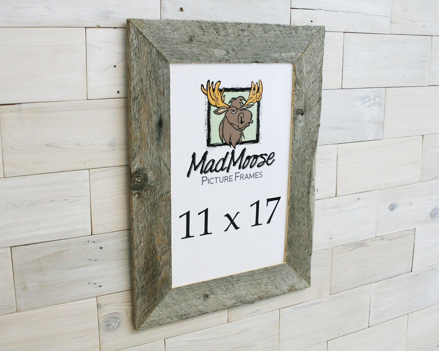11x17 Barn Wood [Thin x 3] Picture Frame... (Rustic Gray Wood ...