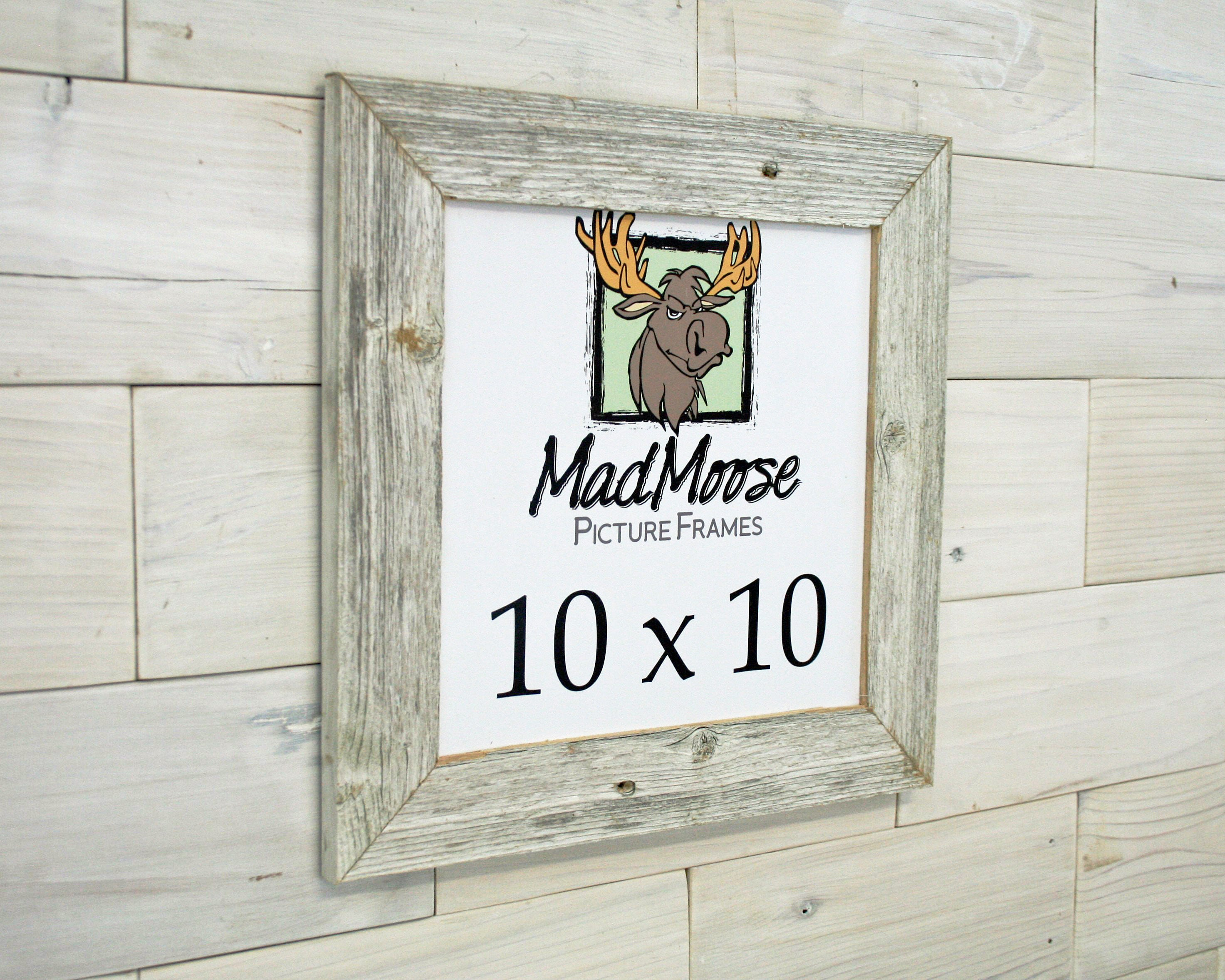 10x10 GHOST Gray [Thin x 2] Picture Frame . . (tags: barn wood frame ...