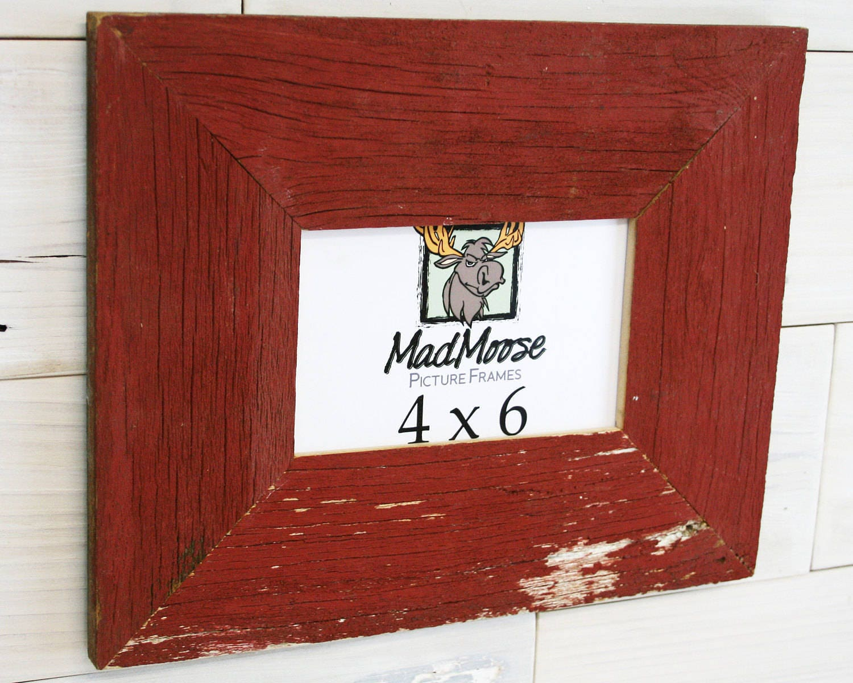 4x6 Red Barn Wood [Thin x 3] Picture Frame... (aka Reclaimed Wood ...