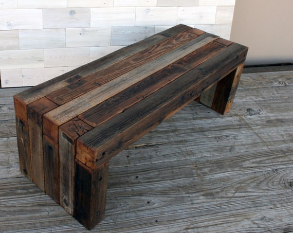 Wondrous Barn Wood Box Joint Bench Coffee Table Multiple Sizes Gamerscity Chair Design For Home Gamerscityorg