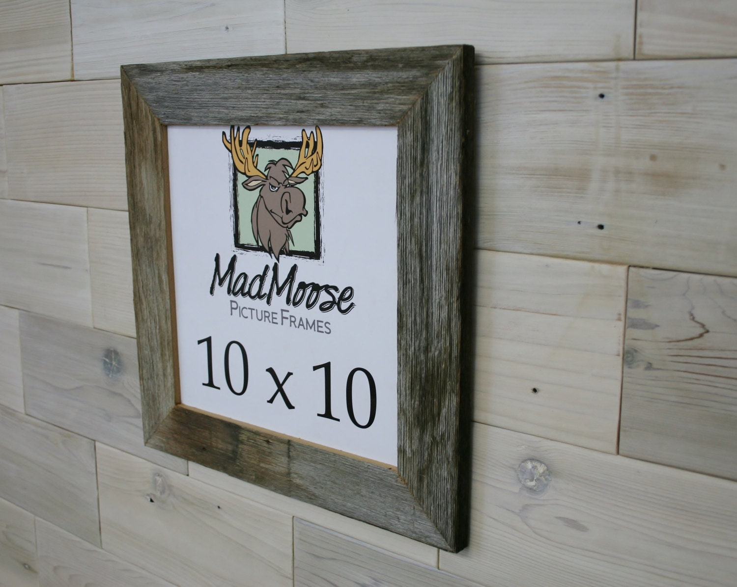 10x10 Barn Wood [Thin x 2] Picture Frame (aka weathered gray old ...