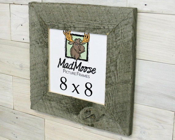 8x8 Barnwood Picture Frame Thin X 3 Etsy
