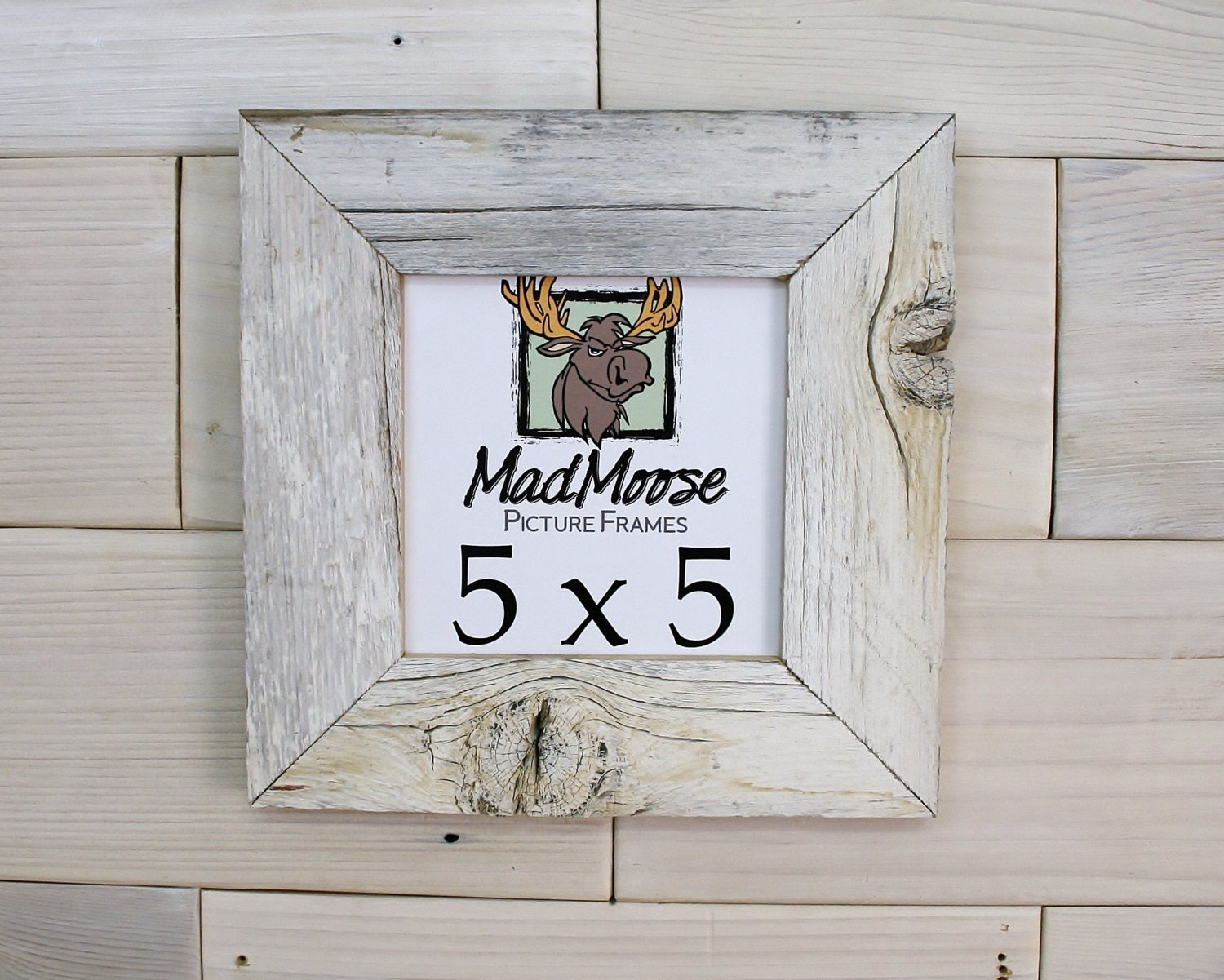 5x5 Ghost Gray [Thin x 2] Picture Frame . . . . (barn wood frame ...