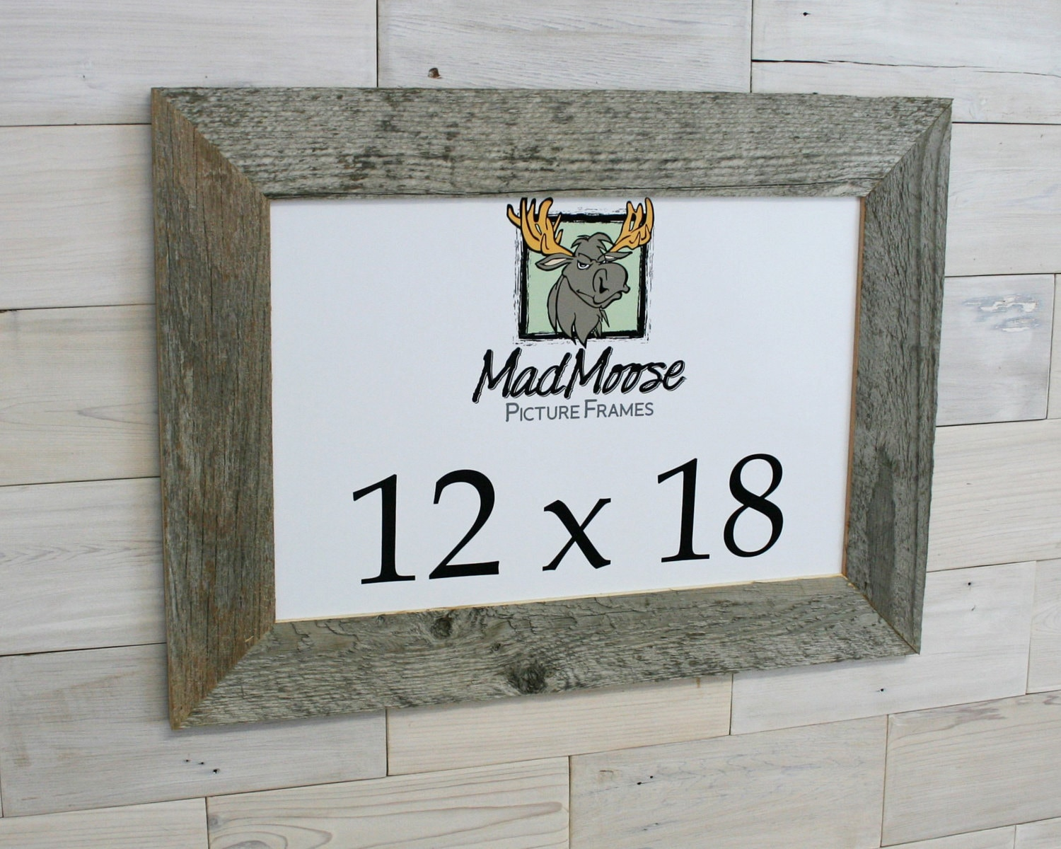 12x18 BarnWood [Thin x 3] Picture Frame... (rustic frame, barn wood ...