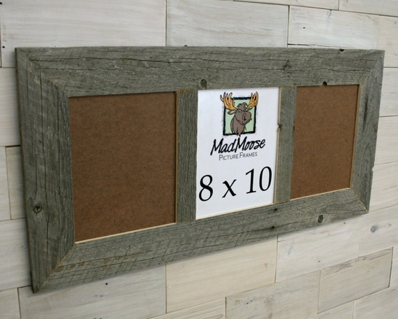 3 pane 8x10 barn wood thin x 3 picture frame etsy