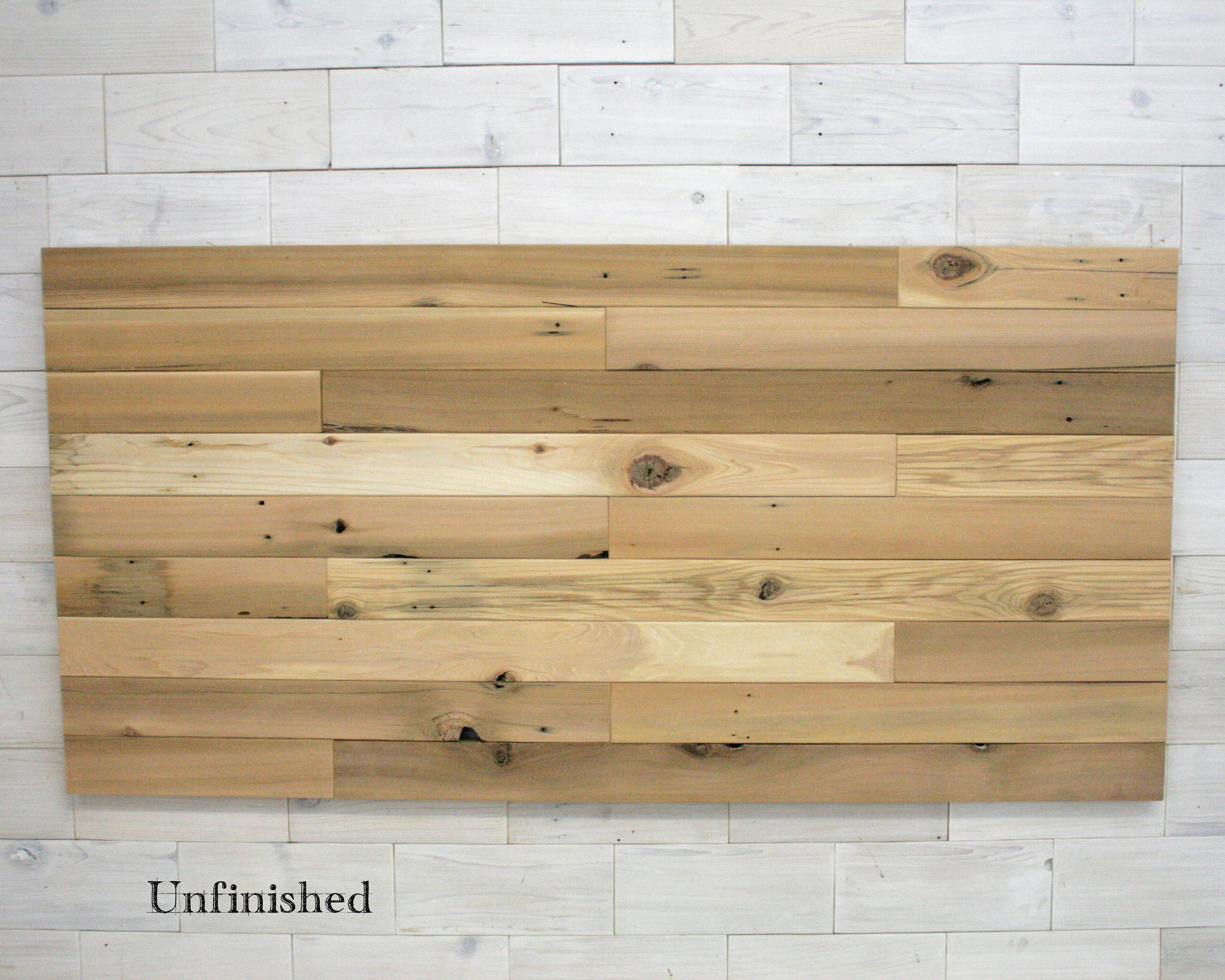 Staggered Full Headboard Panel made from Reclaimed Cedar (Tags ...