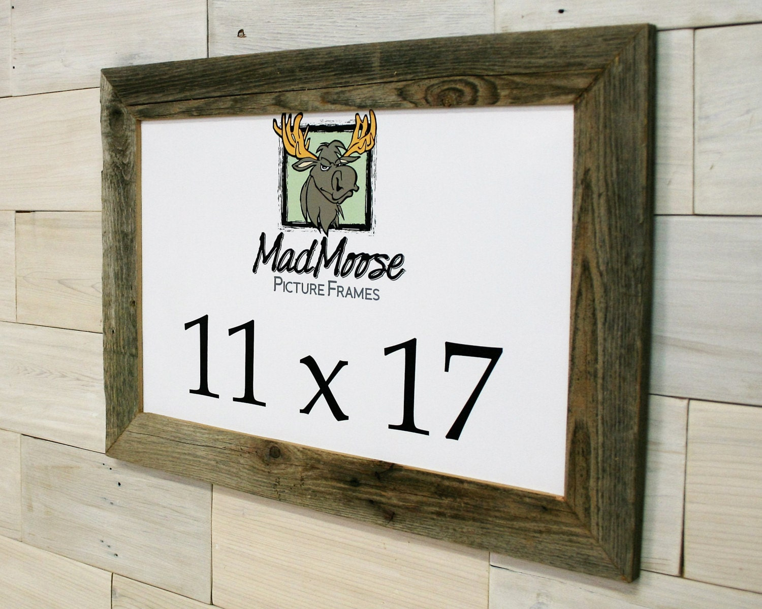 11x17 Barn Wood [Thin x 2] Picture Frame... (Rustic Gray Wood Frame ...