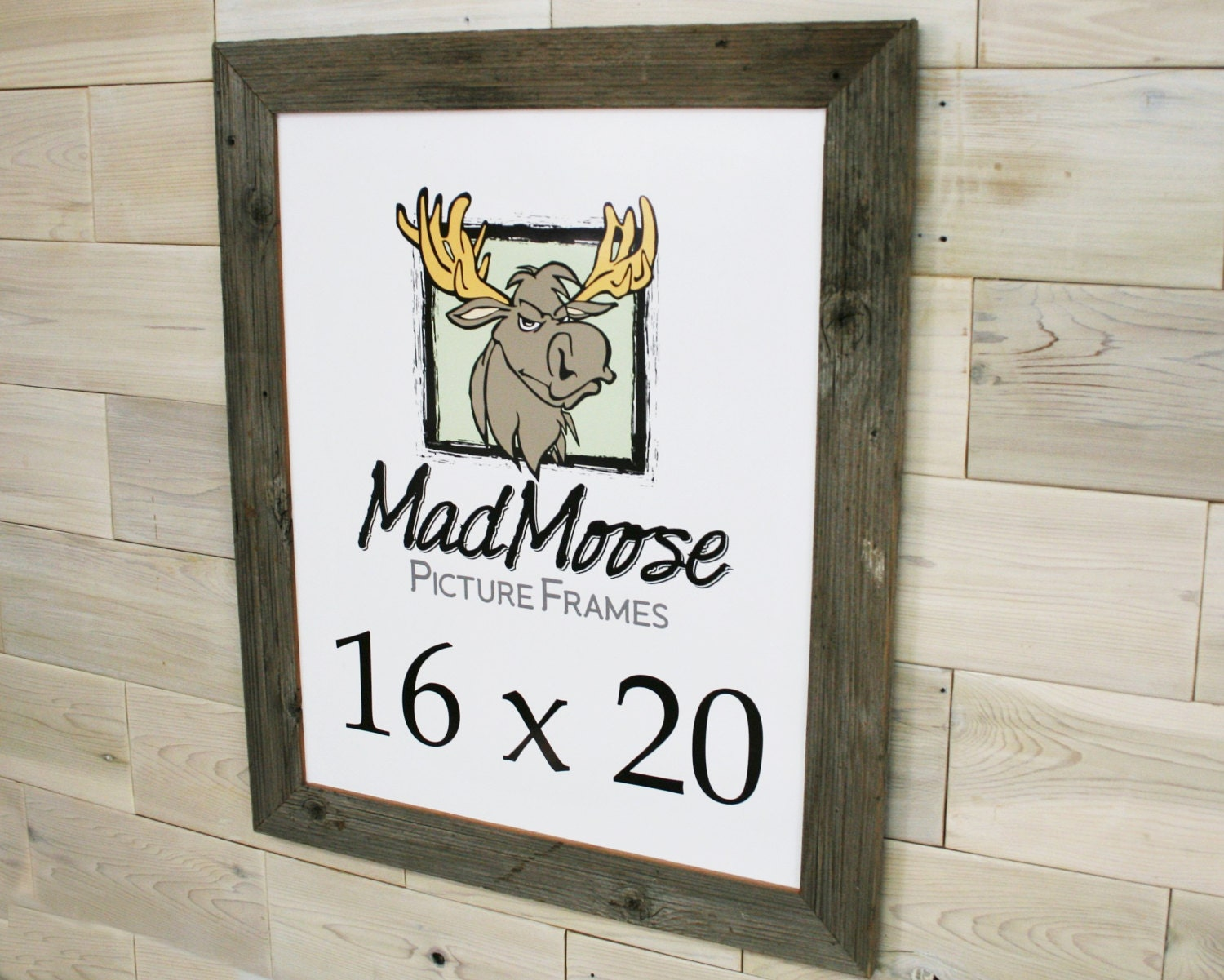 16x20 BarnWood [Thin x 2] Picture Frame