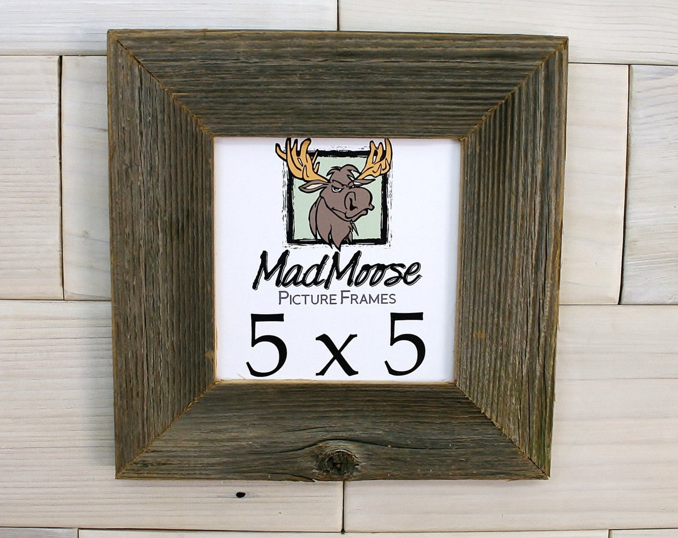 5x5 BarnWood [Thin x 2] Picture Frame .(tags: barn wood frame ...