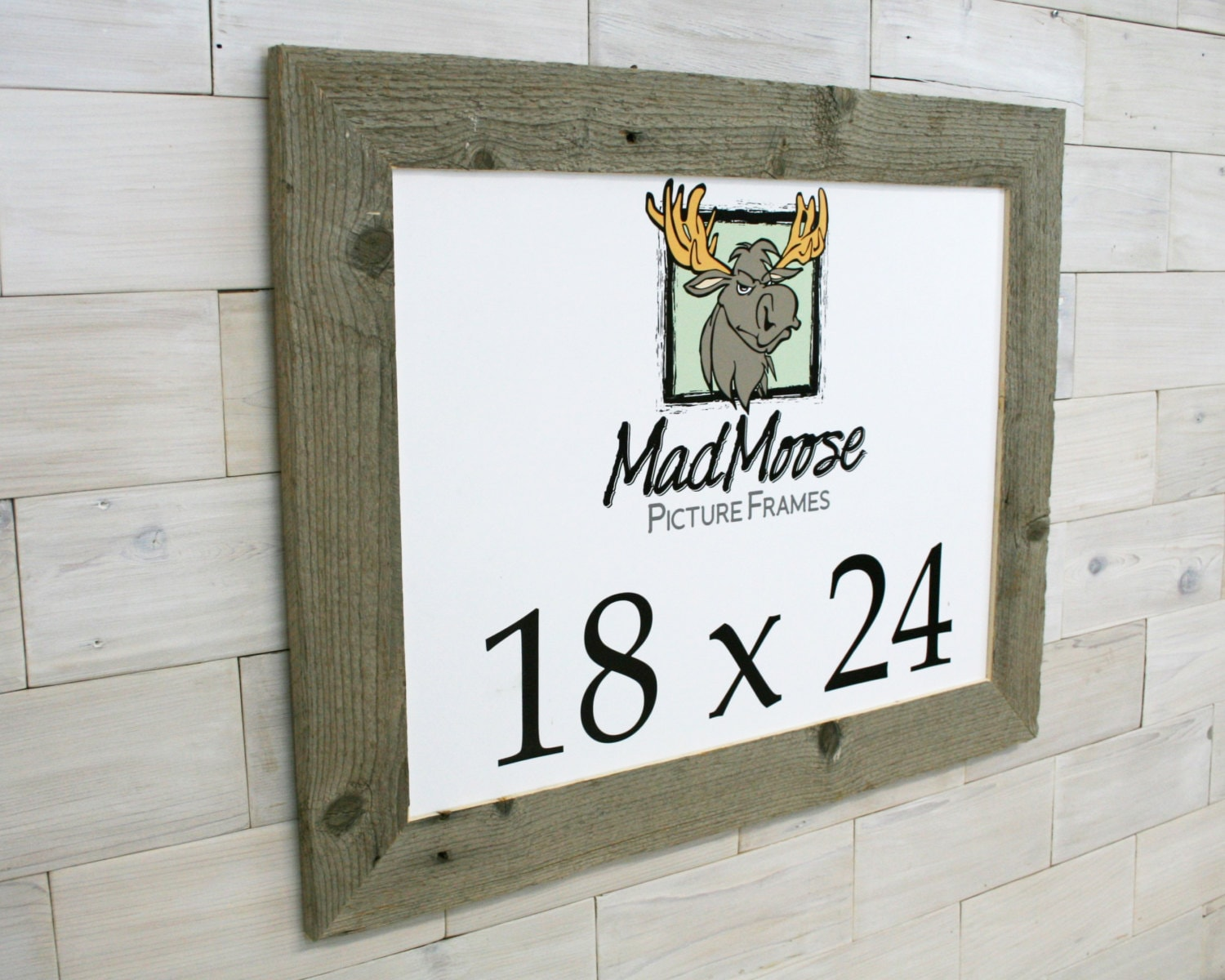 18x24 BarnWood [Thin x 3] Picture Frame . . (tags: barn wood frame ...
