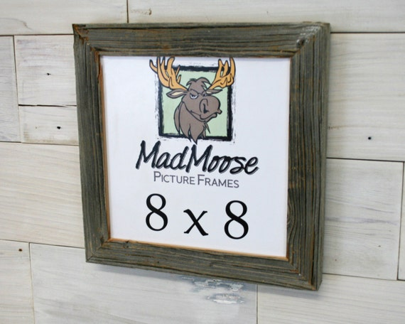 8x8 Barnwood Picture Frame Chunky X 125 Etsy