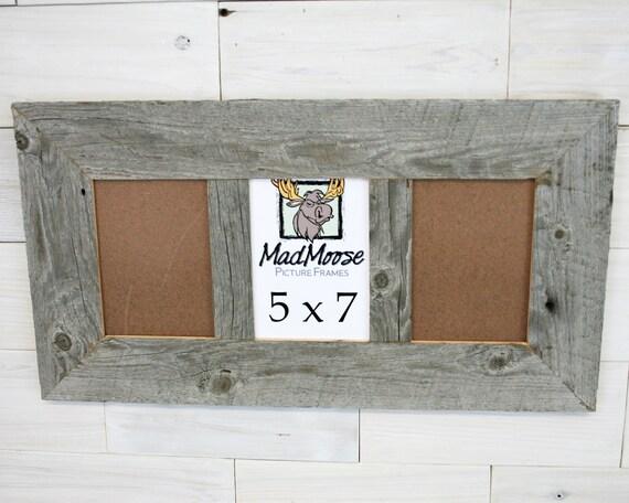 3 pane 5x7 barn wood thin x 3 frame barn wood frame etsy
